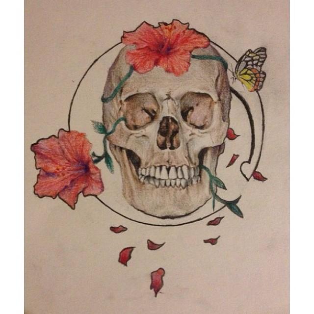 Art Nouveau-ish Skull by ComeAroundSundown