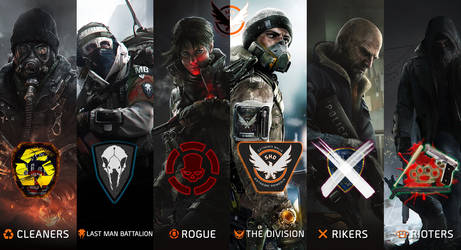 The Division Factions by blackbeast
