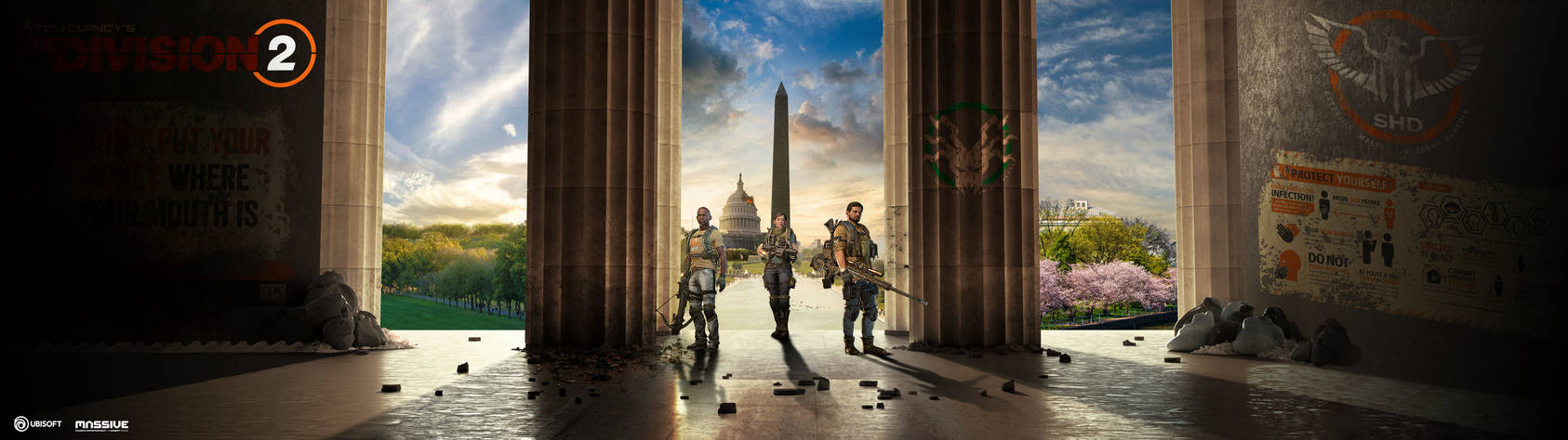 The Division 2 Dualscreen face