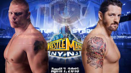Brock lesnar vs wade barrett wrestlemania 29 by IAmDashing12