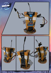 Borderlands Claptrap Sculpture by xX-Lone-Wolf-Xx