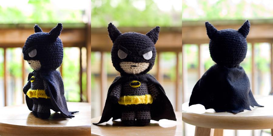 Batman Amigurumi Anleitung, Superheld Crochet Amigurumi ... | 450x900