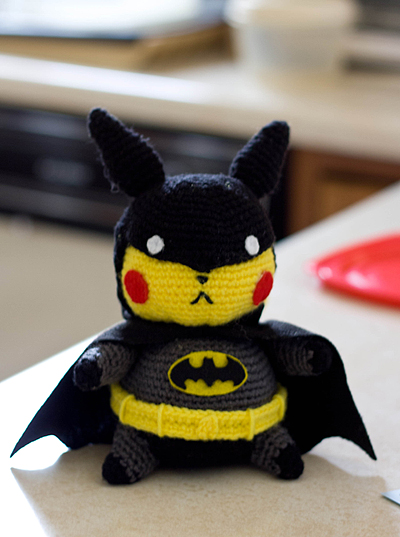 Free Amigurumi Batman Pattern : Pikachu Batman Amigurumi Doll by Sushumo on DeviantArt