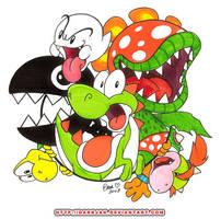 Yoshi- Not so friendly friends by ZombiDJ