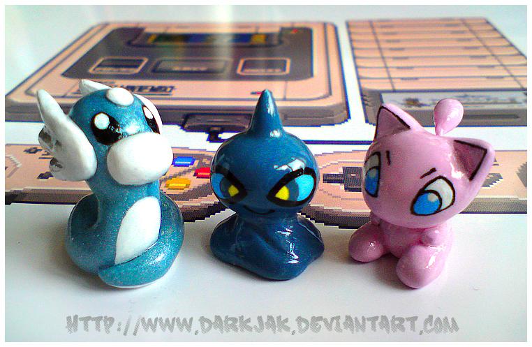 Dratini, Shuppet and Mew by ZombiDJ