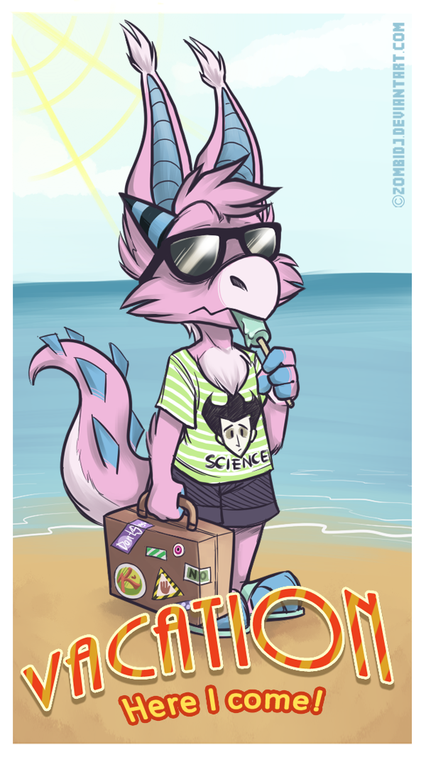 I'm off on vacation by ZombiDJ