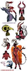Skull Demons by ZombiDJ