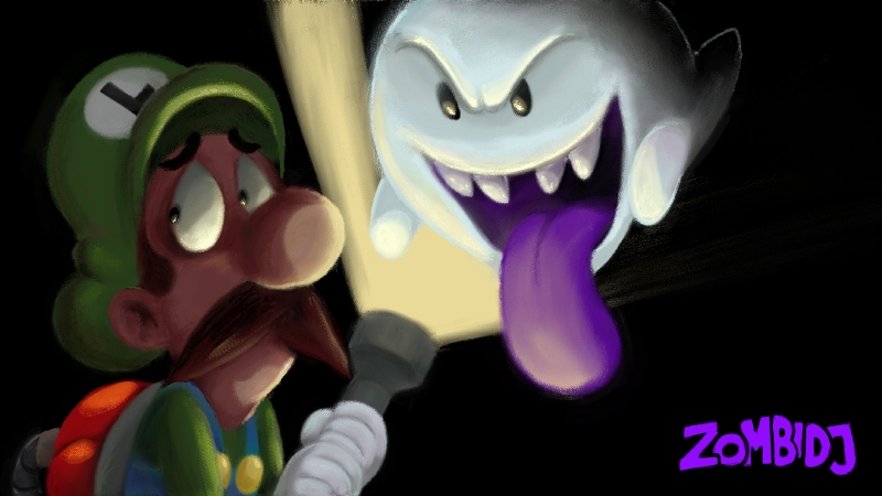 Wii U Sketchpad: Luigi's Mansion by ZombiDJ