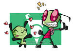 Zim and Gir Wallpaper