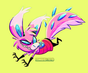 nasty pink puffball