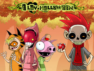I Luv Halloween Wallpaper by ZombiDJ