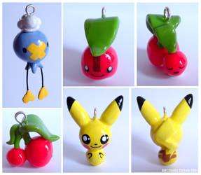 Pokemon charms by ZombiDJ
