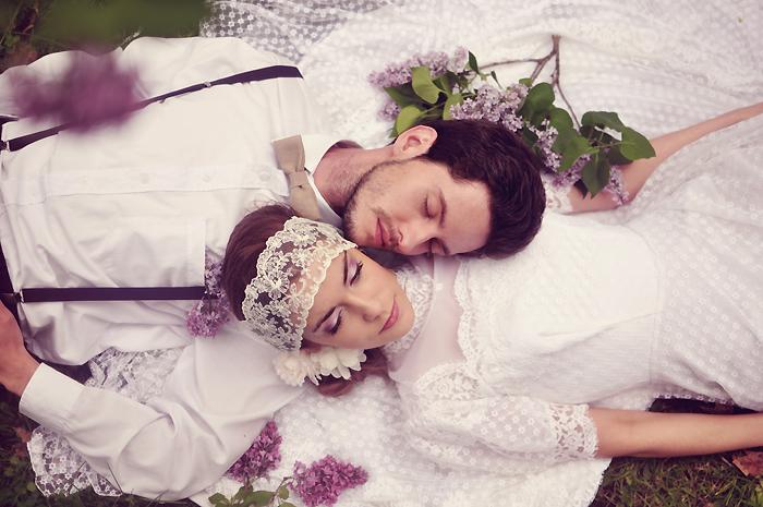 lilac wedding by LoveInMist