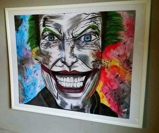 Hand Painted Joker Face Wall Art 16x20 By Krystalarivera On Deviantart