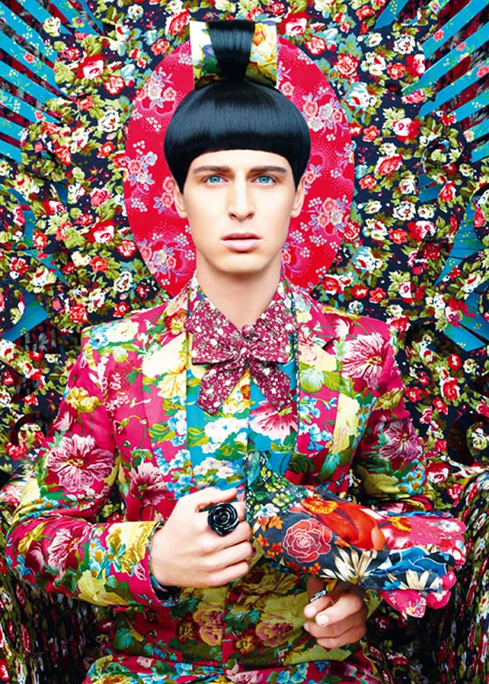 تابلو عکس، مدل خدمتکار گل ها