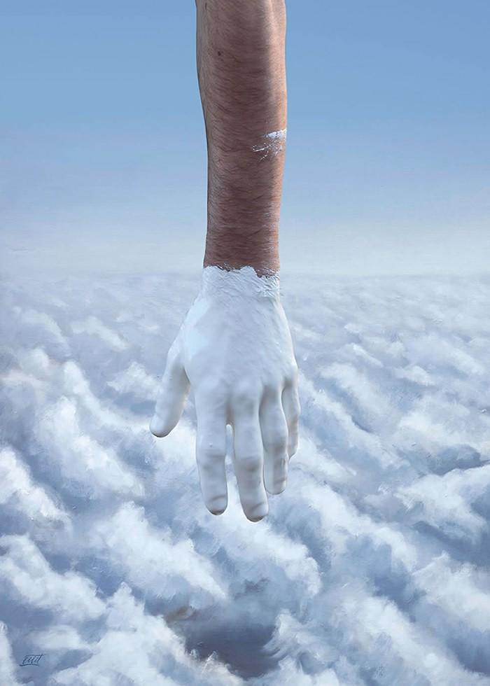 تابلو عکس، رنگ هوشمندانه آسمان و ابرها