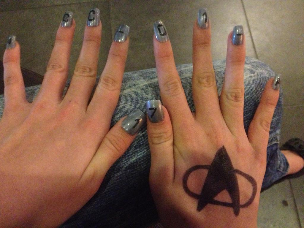 Star Trek Nail Art By Jashin Sister On Deviantart