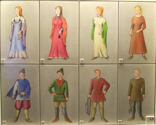 Drawing of Viking clothes by ValerianaSTOCK