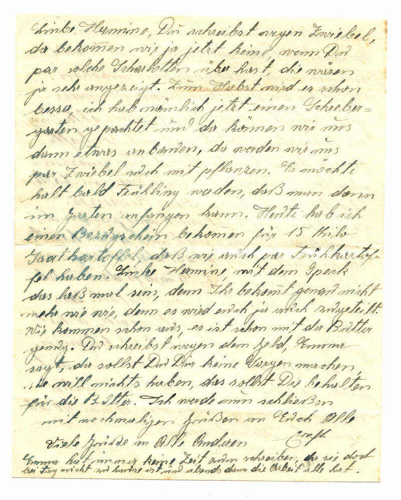 Dear Hermine Old Letter