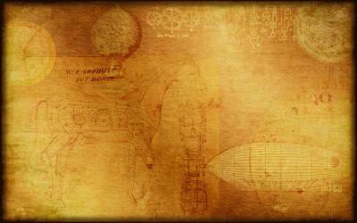 Steampunk Wallpaper-Background by ValerianaSTOCK