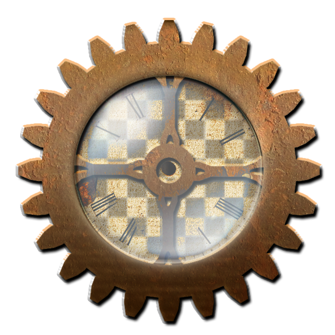 Steampunk Gear with Clock STOCK