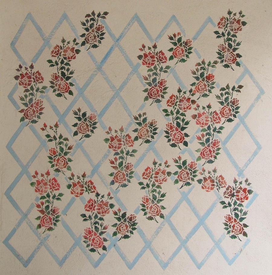 ValerianaSTOCK Stencil Wall by ValerianaSTOCK