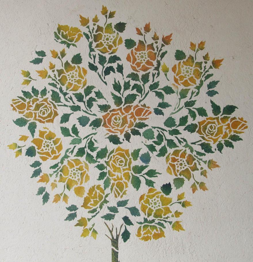 ValerianaSTOCK Stencil Wall2 by ValerianaSTOCK