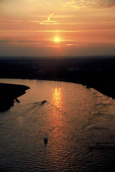 Sunset over river Rhine pt.1