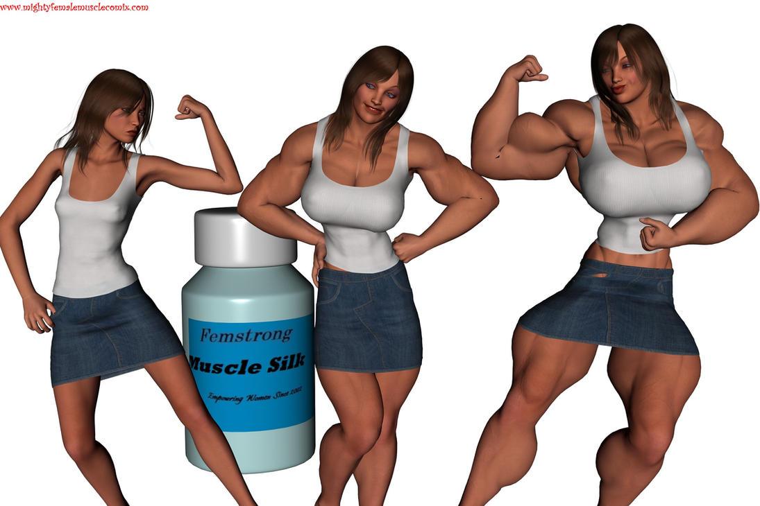 Female Muscle Growth by SteeleBlazer84