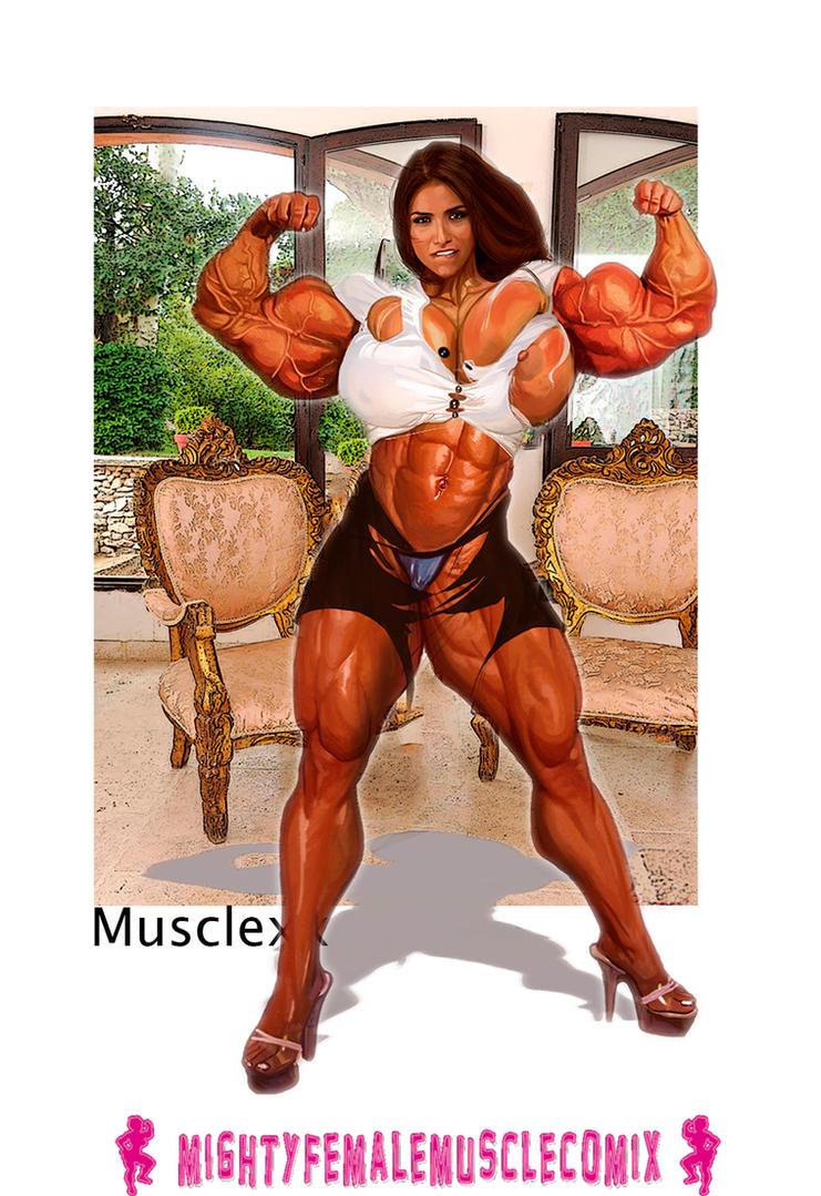 Musclexx Pinup Commission Set 7 Sample by SteeleBlazer84
