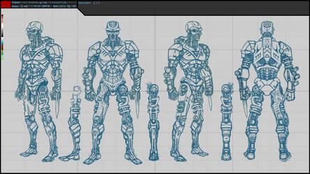 CyART - TTT Characters - 2EE Sketch 02 by CyART-CiprianFlorea