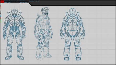 CyART - TTT Characters - Atlas Sketch 02 by CyART-CiprianFlorea