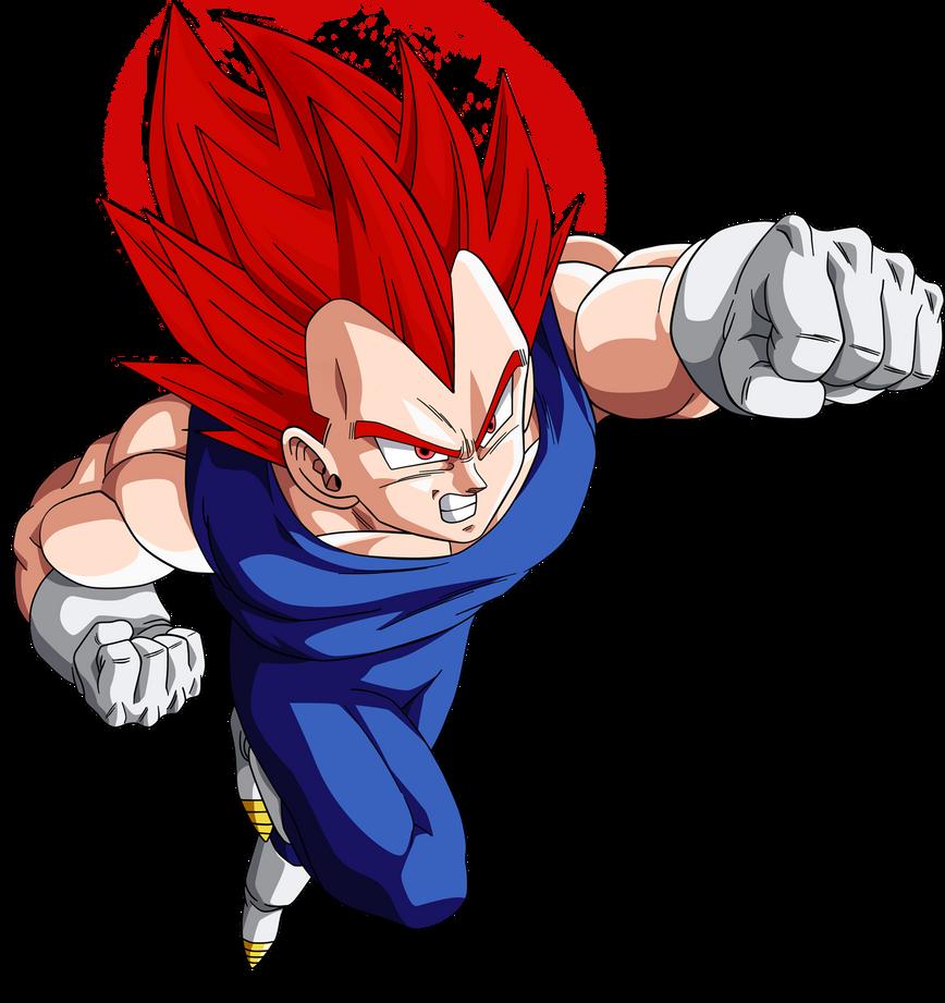 Vegeta super saiyan god vector by armorkingtv21 on deviantart - Vegeta super sayen ...