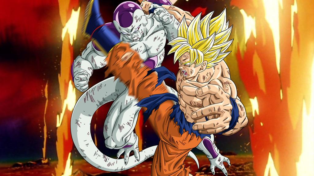 Goku V Frieza Wallpaper By ArmorKingTV21