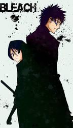 Rukia and Ichigo by evilPixel