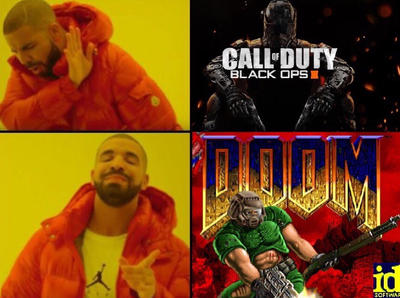 Drake Meme (DOOM VS COD) by CupheadTheIdiot on DeviantArt