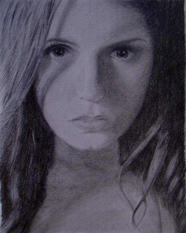 Nina Dobrev as Elena Gilbert by amitriptyline05