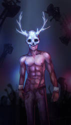 Disco ball skull man by ShadowOfSunshine