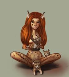 Lynx-woman by ShadowOfSunshine