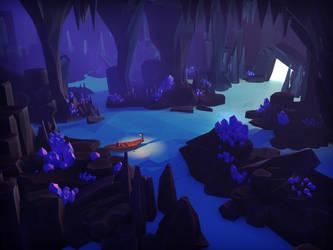 Underground river by ShadowOfSunshine