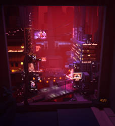 Neon city by ShadowOfSunshine