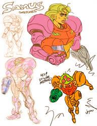 Samus Sketch dump by JoeyNash