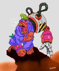 Angry ape by JoeyNash