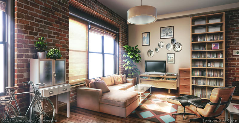 Living Room Visual Novel Background By Giaonp On Deviantart
