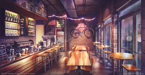 Hipster coffee - Visual Novel Background