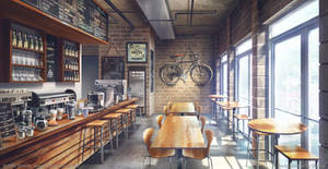 Hipster coffee Day - Visual Novel Background