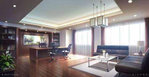 Luxury Office_Day - Visual Novel Background