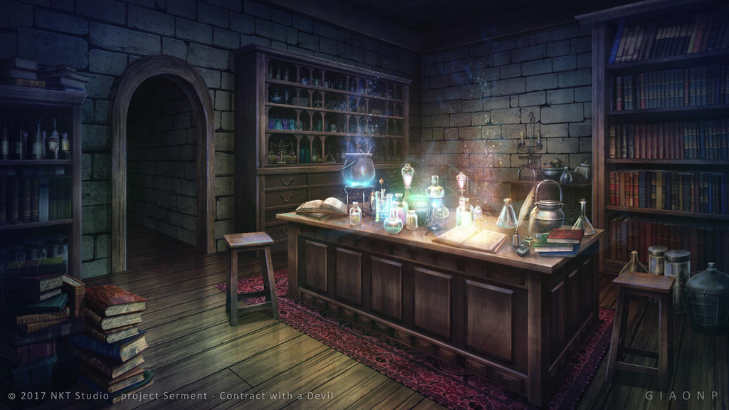 Magical Lab Visual Novel Background By Giaonp On Deviantart