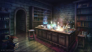 Magical lab - Visual novel Background