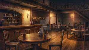 Tavern | Illustration Artwork for Visual Novel BG